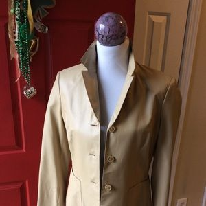 Nine West camel leather jacket